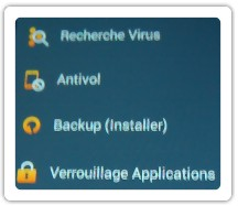 Les options de l'antivirus avast mobile